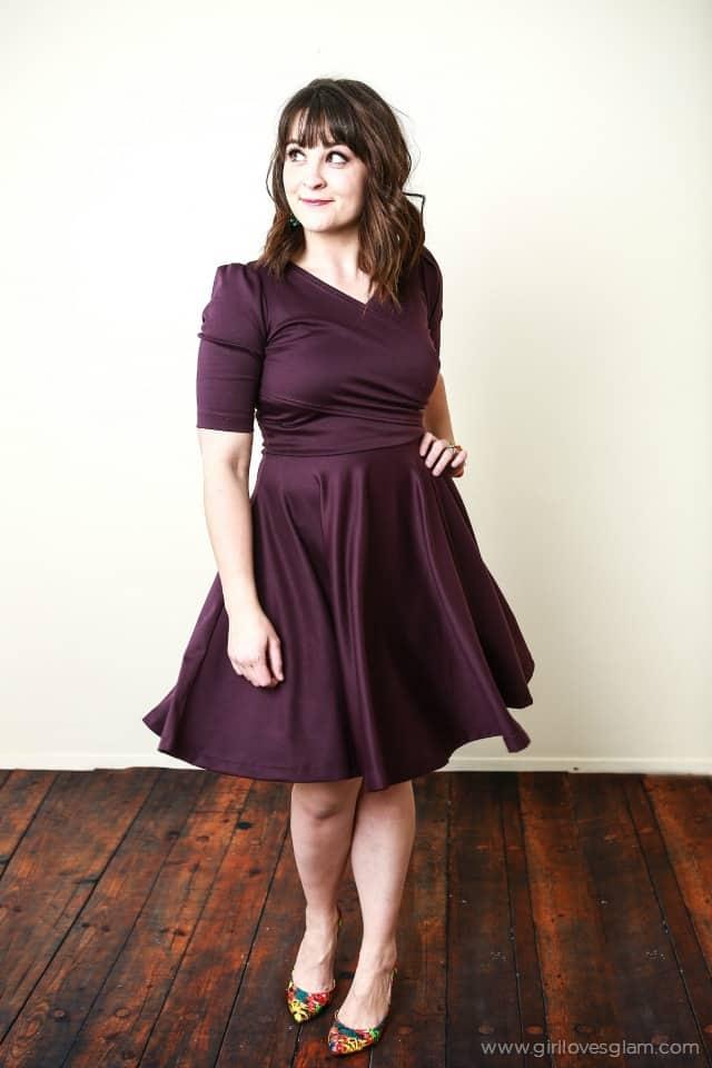 Shabby Apple Plum Dress on www.girllovesglam.com