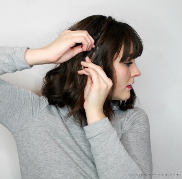 Twisted Braid Headband Tutorial on www.girllovesglam.com
