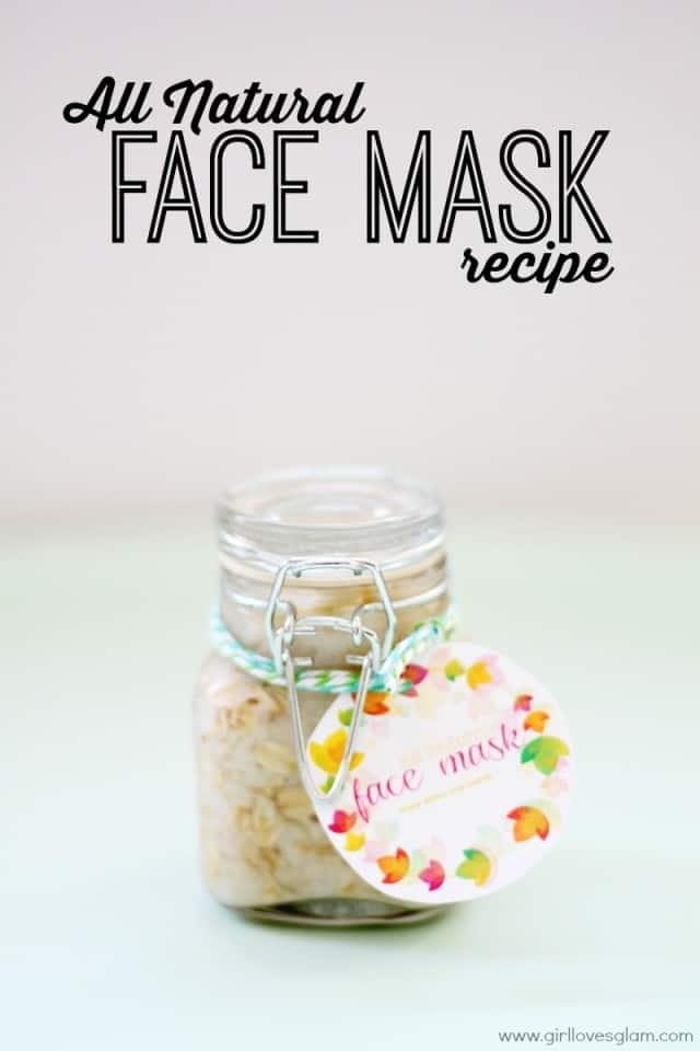 All Natural Face Mask Recipe on www.girllovesglam.com