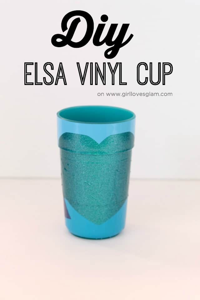 DIY Elsa Vinyl Cup on www.girllovesglam.com