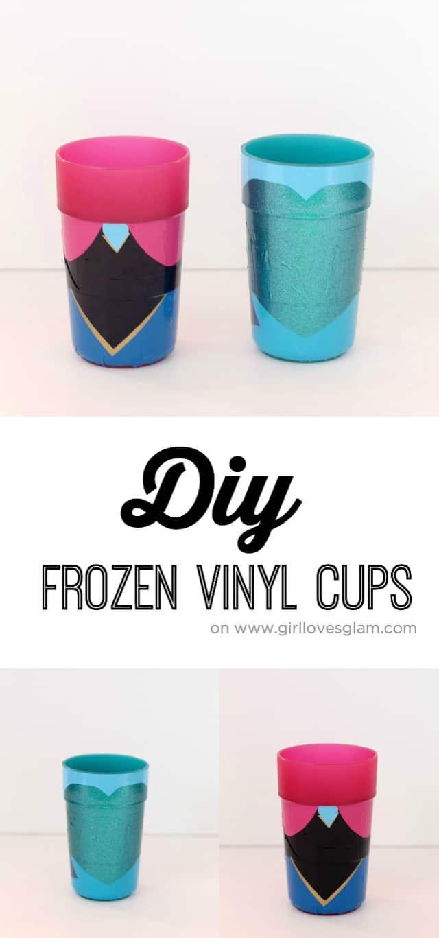 DIY Frozen Cups on www.girllovesglam.com