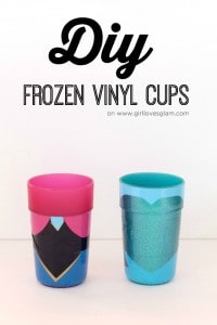 DIY Frozen Vinyl Cups on www.girllovesglam.com