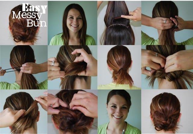 Easy Messy Bun on www.girllovesglam.com