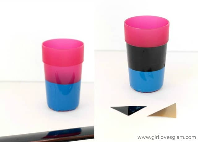 Easy Vinyl Craft to make Frozen Anna cup on www.girllovesglam.com