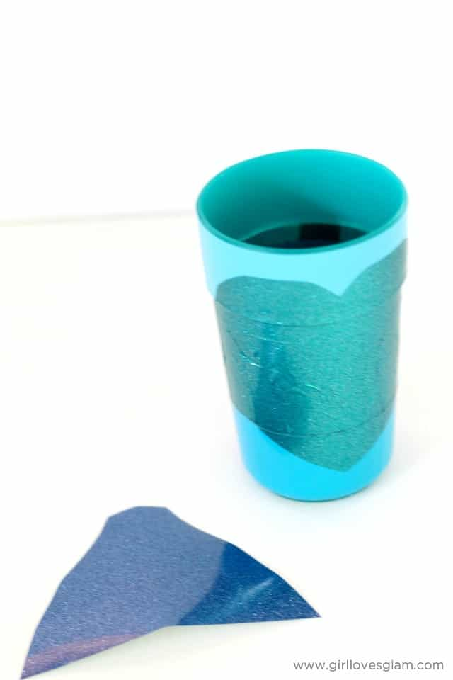 Elsa Cup craft on www.girllovesglam.com