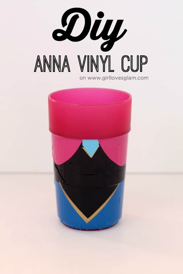 Frozen Anna Cup craft on www.girllovesglam.com
