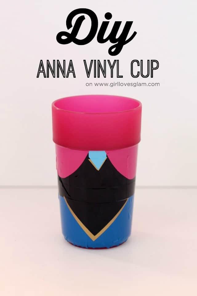 Frozen Anna Cup craft on www.girllovesglam.com
