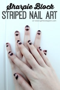 Sharpie Nail Art Tutorial on www.girllovesglam.com