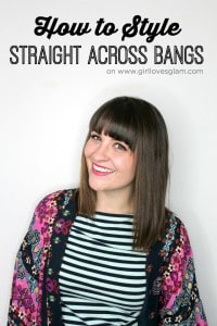 Styling Straight Across Bangs on www.girllovesglam.com