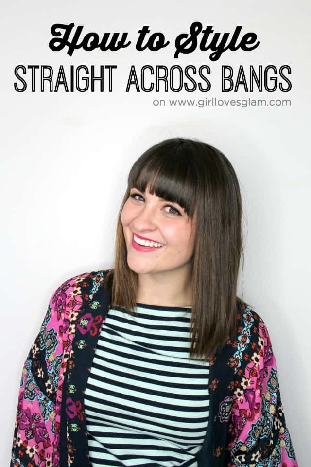 how to style straight across bangs youtube monday girl loves glam