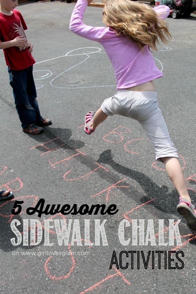 5 Awesome Sidewalk Chalk Activities on www.girllovesglam.com