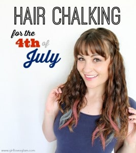 DIY Hair Chalking for the 4th of July