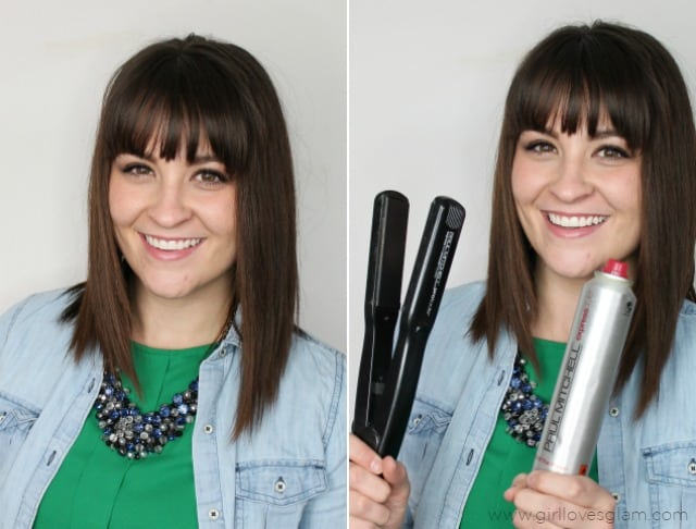 Easy Flat Iron Waves on www.girllovesglam.com