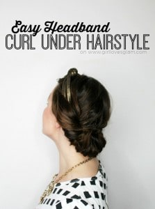 Easy Headband Curl Under Hairstyle on www.girllovesglam.com