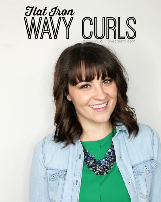 Flat Iron Wavy Curls Tutorial on www.girllovesglam.com