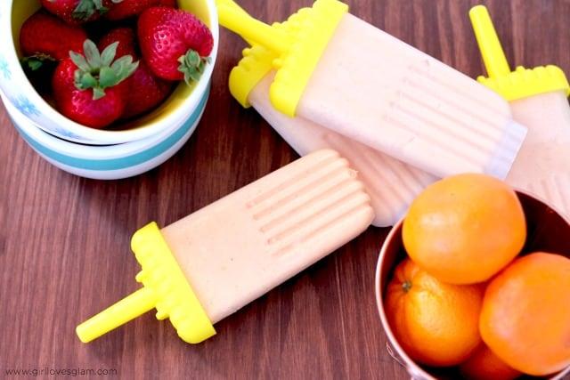 Berry Orange Frozen Pops Recipe on www.girllovesglam.com