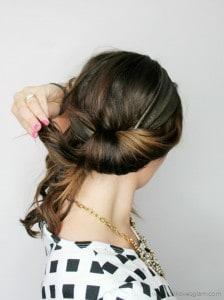 Headband Tuck Hairstyle on www.girllovesglam.com
