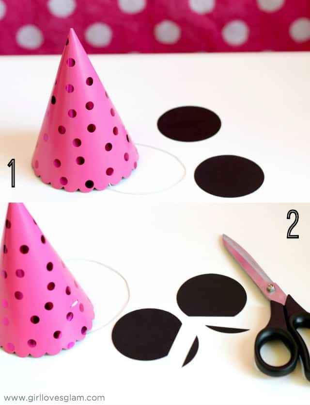 Minnie Mouse Party Hat Favors on www.girllovesglam.com
