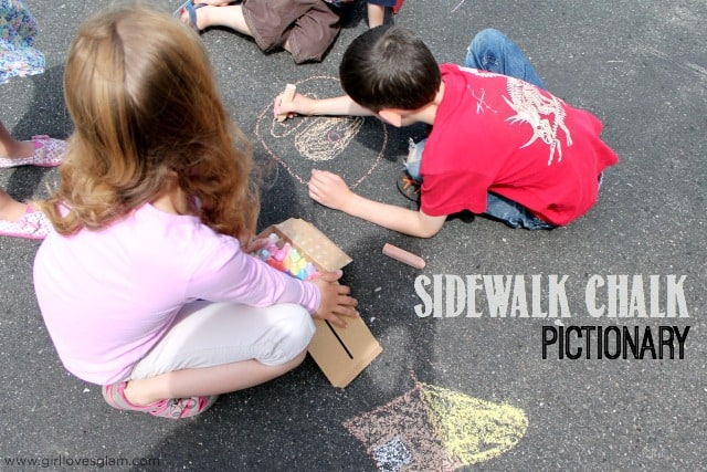 Sidewalk Chalk Pictionary on www.girllovesglam.com