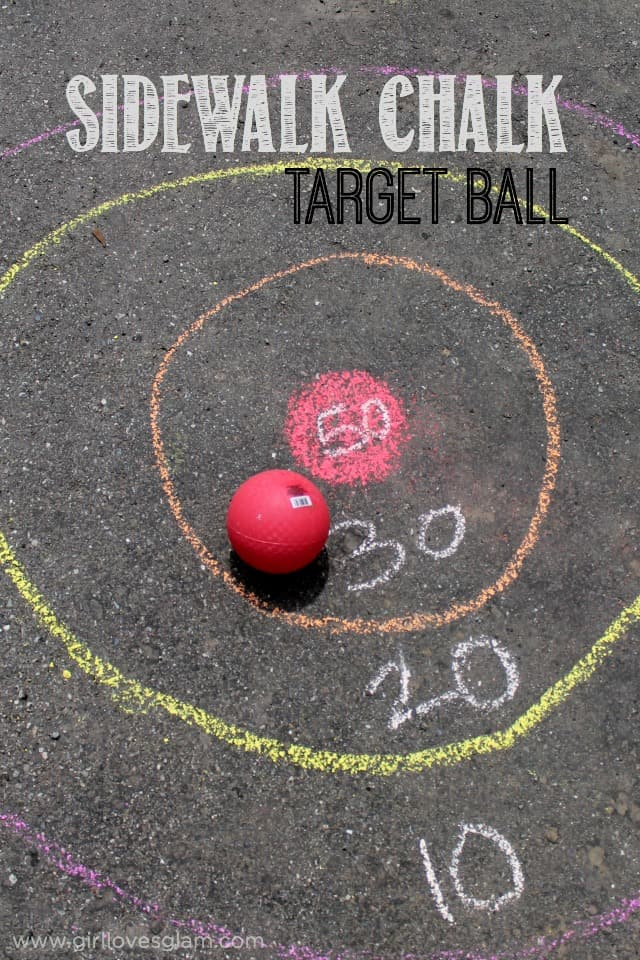 Sidewalk Chalk Target Ball Game on www.girllovesglam.com