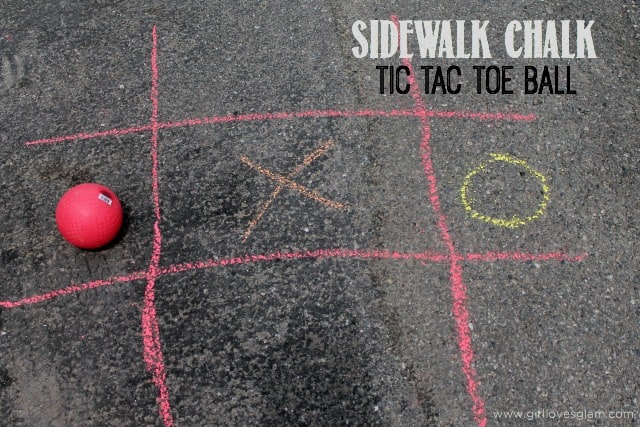 Sidewalk Chalk Tic Tac Toe Ball on www.girllovesglam.com