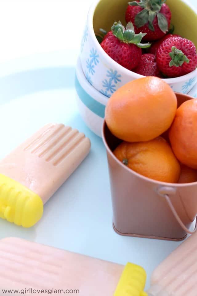 Summer Frozen Popsicle Recipe on www.girllovesglam.com