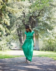 Green Maxi Dress Outfit on www.girllovesglam.com