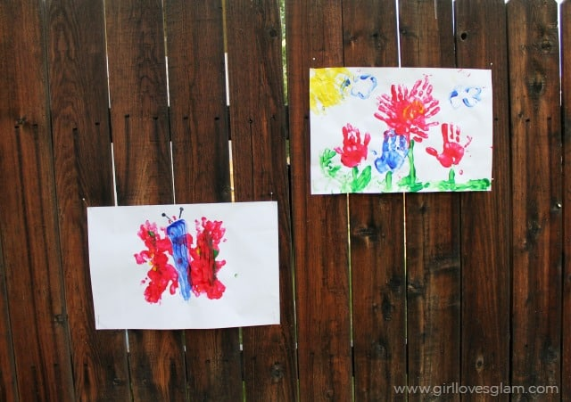 Summer Finger Painting Ideas on www.girllovesglam.com