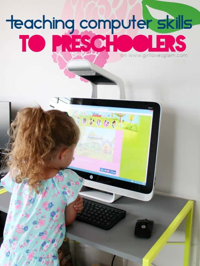 Teaching Computer Skills to Preschoolers on www.girllovesglam.com