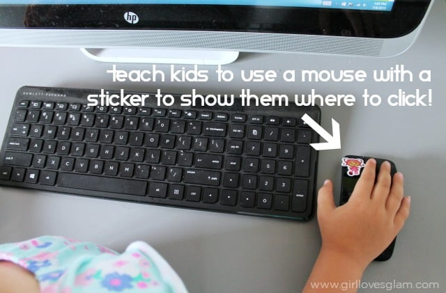 Teaching kids how to use a computer mouse on www.girllovesglam.com