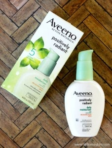 Aveeno Positively Radiant Moisturizer on www.girllovesglam.com