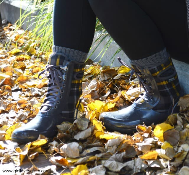 Bogs Plaid Boots on www.girllovesglam.com