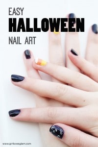 Easy Halloween Nail Art Tutorial on www.girllovesglam.com