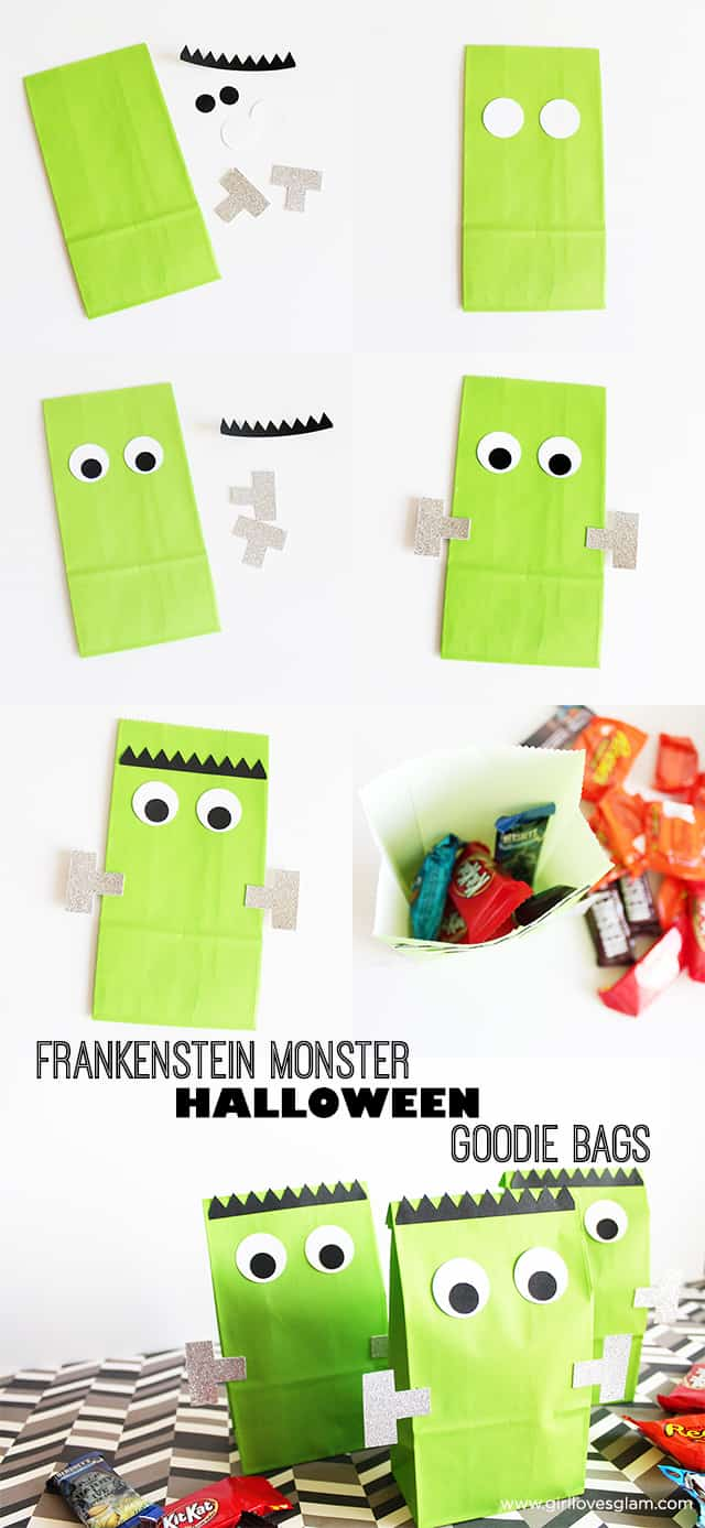 Frankenstein Halloween Goodie Bags on www.girllovesglam.com