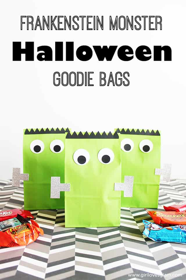 Frankenstein Monster Halloween Goodie Bags on www.girllovesglam.com