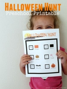 Halloween Hunt Preschool Free Printable on www.girllovesglam.com