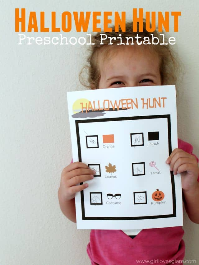 Halloween Hunt Preschool Free Printable
