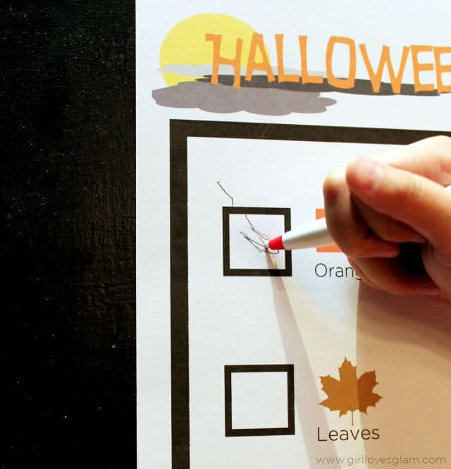 Halloween Preschool Printable Activity on www.girllovesglam.com