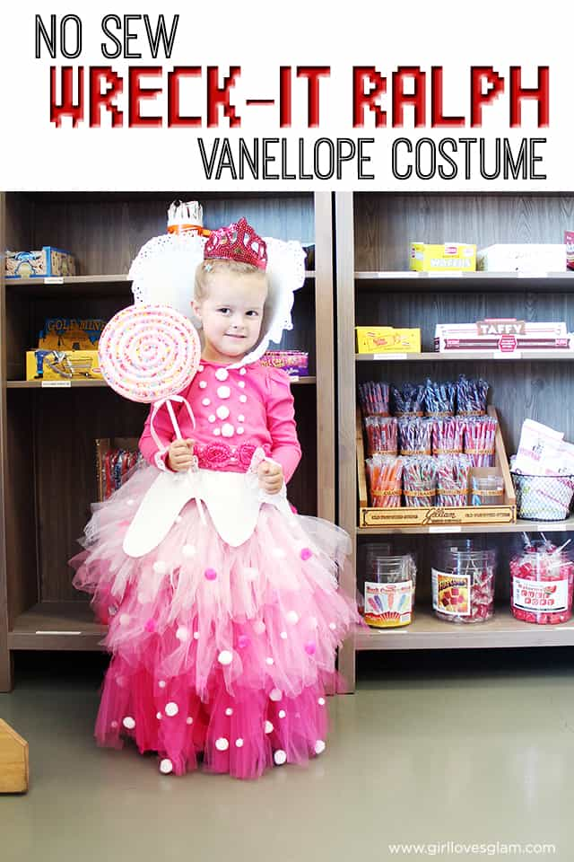 Wreck it Ralph Vanellope Von Schweetz Princess Costume on www.girllovesglam.com