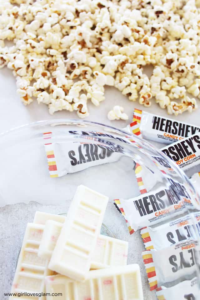 White Chocolate Halloween Popcorn on www.girllovesglam.com