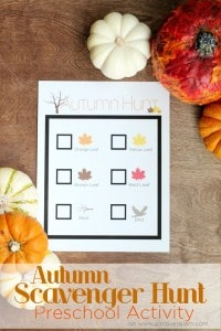 Autumn Scavenger Hunt Preschool Activity on www.girllovesglam.com