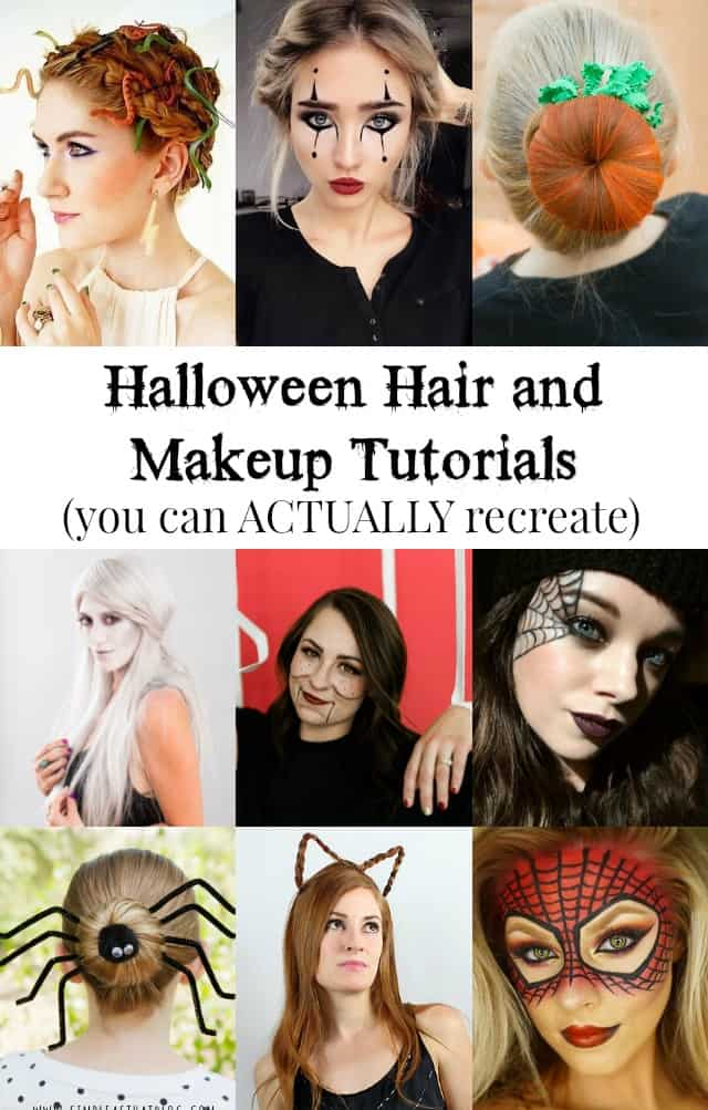 Halloween Hair and Makeup Tutorials You Can Actually Recreate