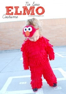 No Sew Elmo Costume