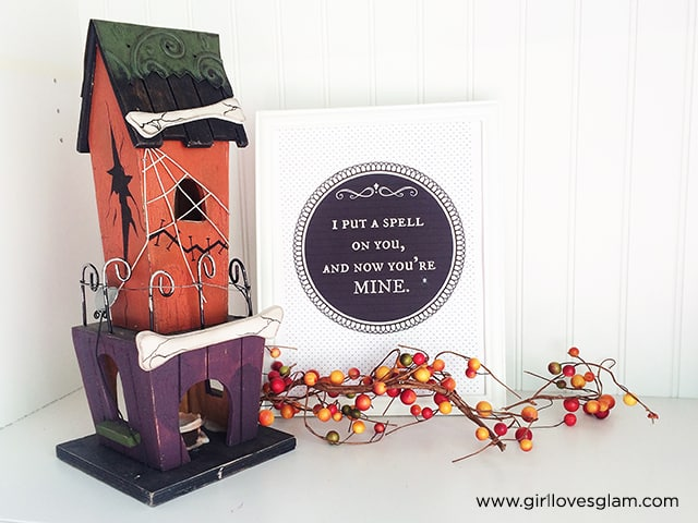 I Put a Spell on You Halloween Printable on www.girllovesglam.com