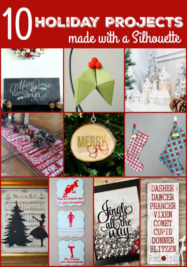 10 Holiday Projects Made with a Silhouette on www.girllovesglam.com