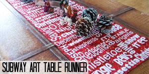 Christmas Subway Art Table Runner