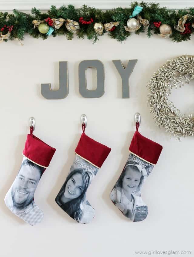 Custom Christmas Stocking Idea on www.girllovesglam.com
