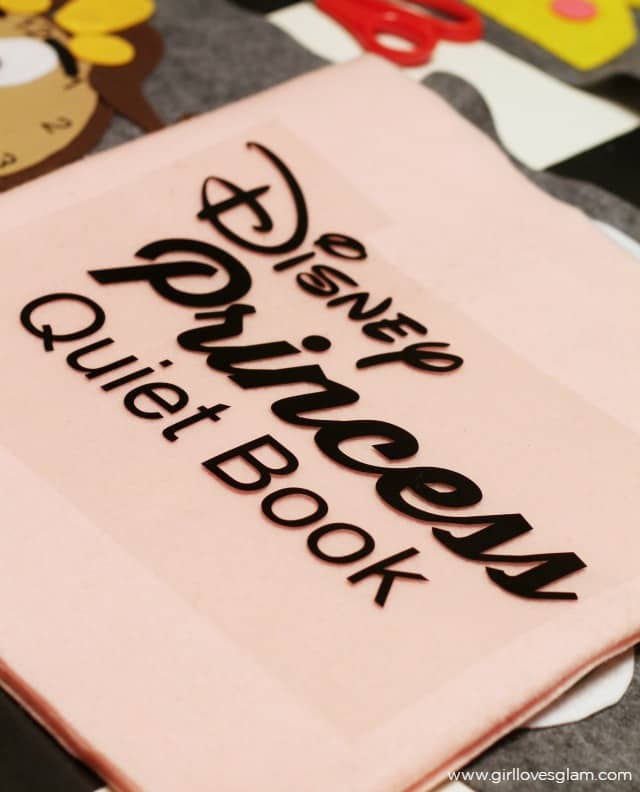 Disney Princess Quiet Book Cover on www.girllovesglam.com