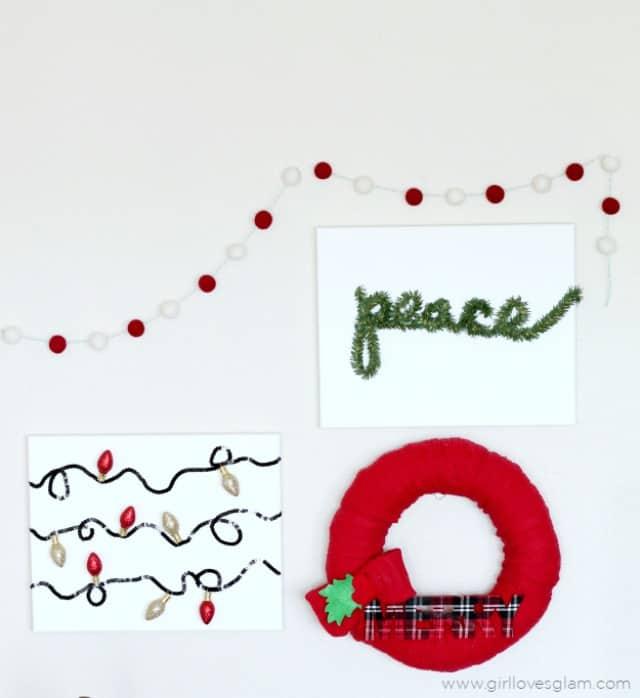 Easy Christmas Canvas Art on www.girllovesglam.com