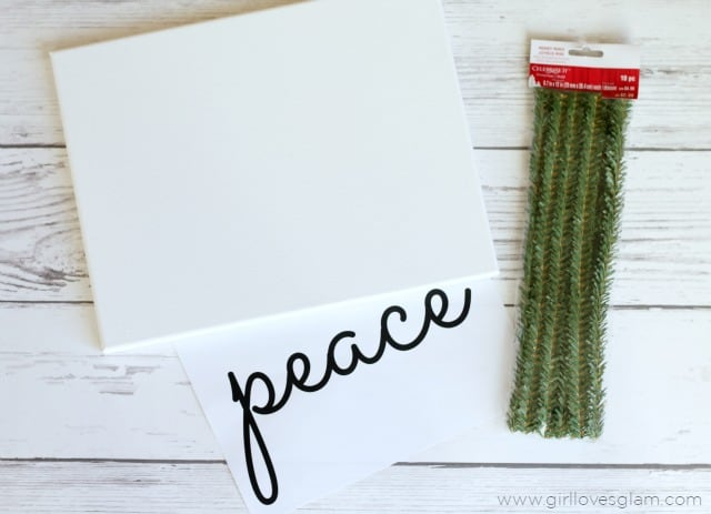 Easy Christmas Canvas Craft on www.girllovesglam.com